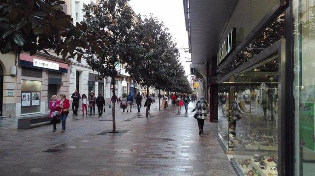 Comercios en el centro de Córdoba, en una imagen de archivo.