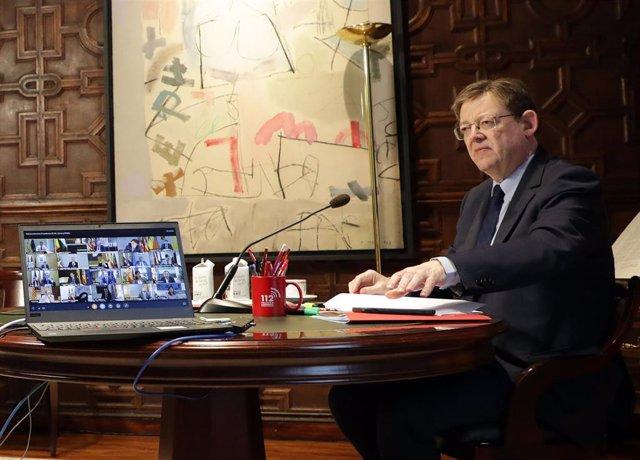 Puig durante la conferencia de presidentes de este domingo