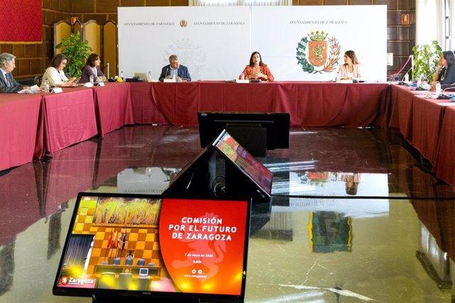 Reunión de la Comisión por el futuro de Zaragoza