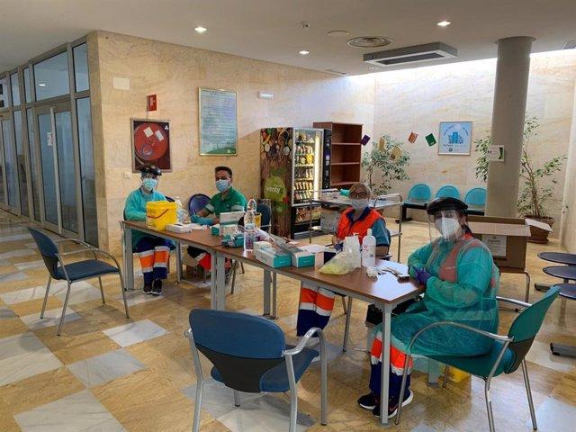 Realización de test rápidos en la Área Sanitaria Norte de Almería