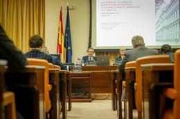 El gobernador del Banco de España, Pablo Hernández de Cos, en su comparecencia ante el Congreso en comisión