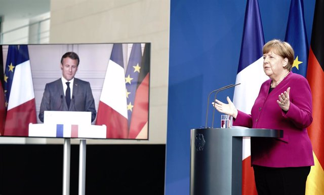 AMP.- Coronavirus.- Merkel y Macron plantean un fondo de recuperación de 500.000