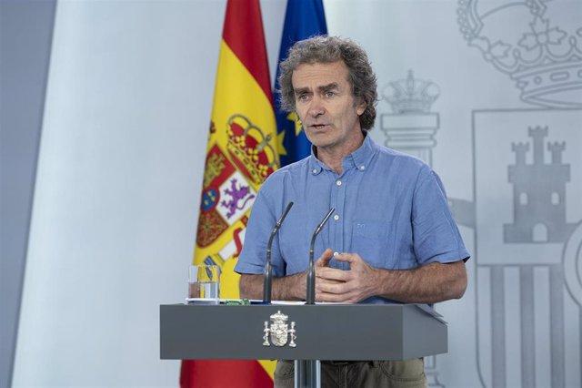 El director del Centro de Coordinación de Alertas y Emergencias Sanitarias, (CCAES), Fernando Simón