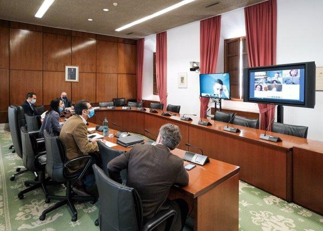 Reunión de la Junta de Portavoces del Parlamento andaluz. Imagen de archivo.