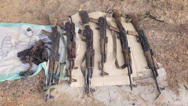 Armas incautadas por el Ejército durante un choque con milicianos de Boko Haram en el noreste