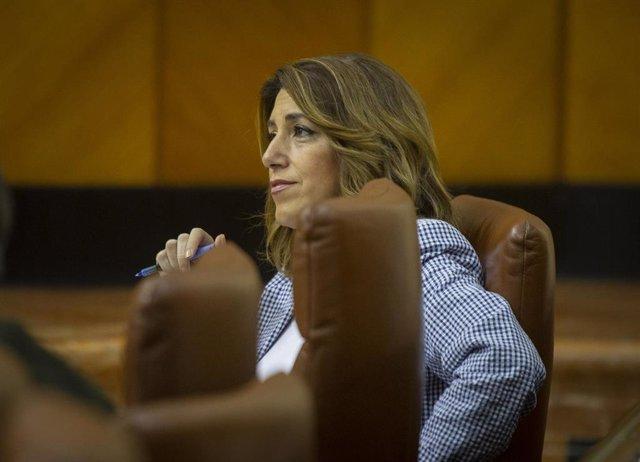 La secretaria general de PSOE-A, Susana Díaz