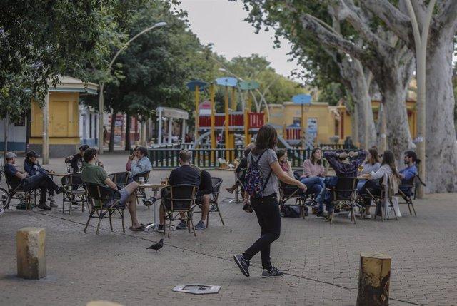 Un bar en la Alameda de Hércules de Sevilla