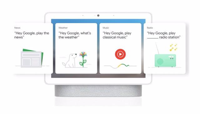 Experiencia simplificada de Nest Hub Max para personas mayores