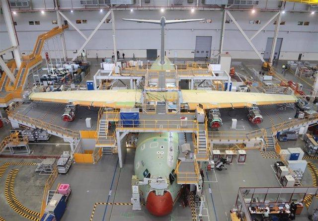 Planta de montaje de la FAL de Airbus en una imagen de archivo