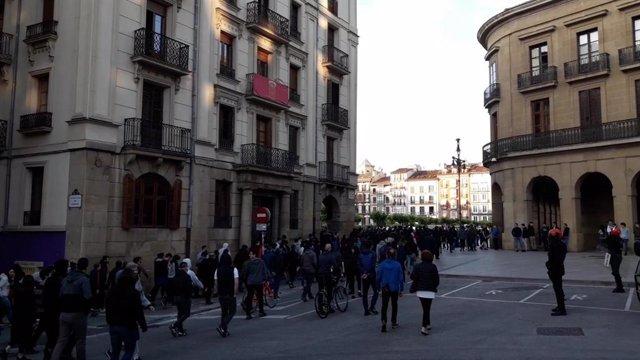 Concentración en Pamplona en apoyo del etarra Patxi Ruiz