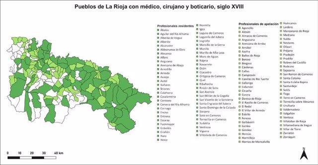 La Rioja contaba en el siglo XVIII con una institucionalización municipal de la sanidad perfectamente organizada, según la UR