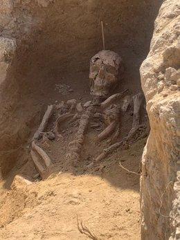 Imagen del yacimiento de la necrópolis tardorromana de Zeneta