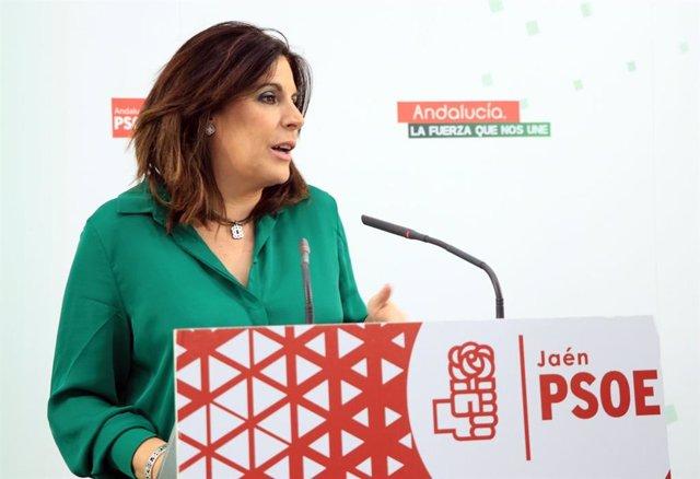 La parlamentaria y coordinadora del grupo parlamentario del PSOE, Ángeles Férriz