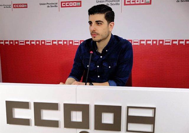 José Manuel Torres, secretario general de Juventud de CCOO Sevilla
