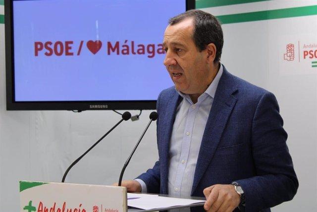 El secretario general del PSOE de Málaga, José Luis Ruiz Espejo, en una imagen de archivo