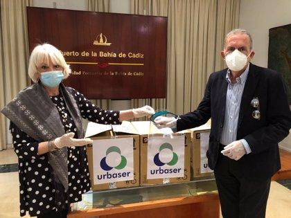 Puertos.-Coronavirus.- La Autoridad Portuaria recibe 250 viseras protectoras donadas por Urbaser