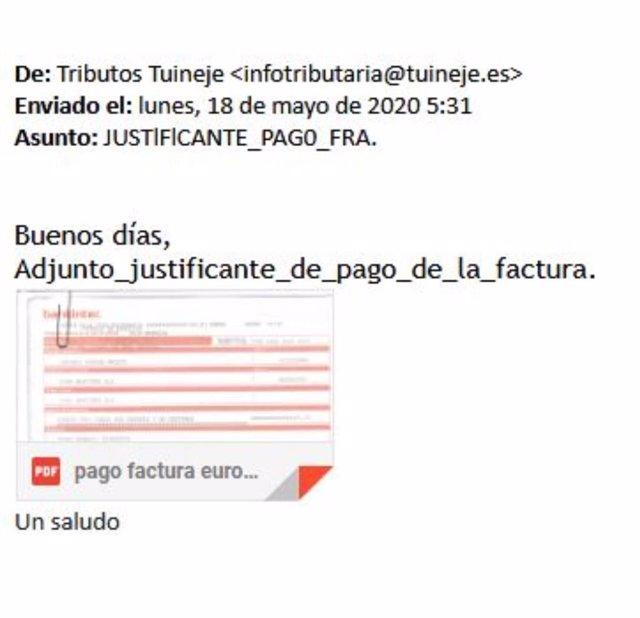 Malware del Ayuntamiento de Tuineje