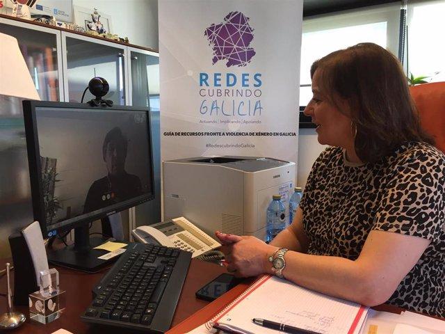 A secretaria xeral da Igualdade, Susana López Abella, mantiene una reunión con la presidenta de la Federación Provincial de Mulleres Rurais de Ourense, María Isabel Garrido