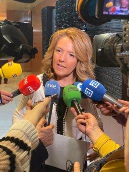 La portavoz del PP Teresa Mallada en la Junta General.