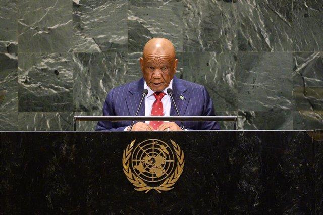 El hasta ahora primer ministro de Lesoto Thomas Thabane