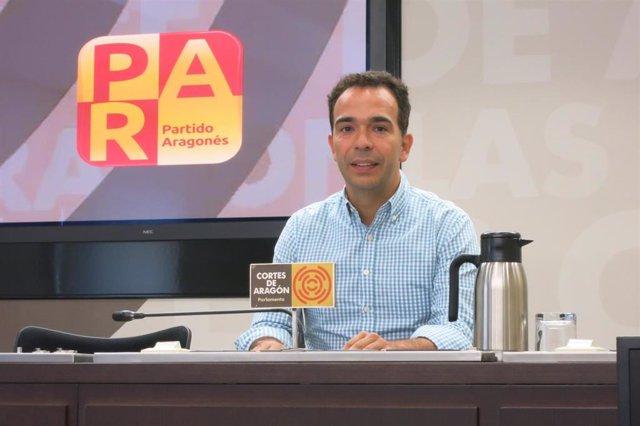 El portavoz del PAR en las Cortes de Aragón, Jesús Guerrero