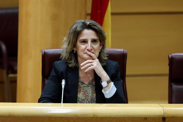 """Teresa Ribera cree que la ley de cambio climático es la """"oportunidad"""" para debat"""