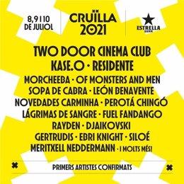 El Festival Cruïlla anuncia per 2021 a Two Door Cinema Club, Kase.O, Resident i Morcheeba