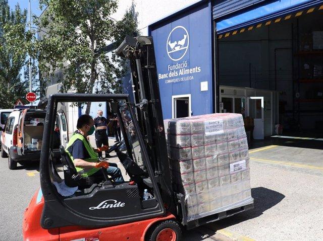 Coronavirus.- Mercadona entrega 8.000 kilos de lentejas al Banc dels Aliments de