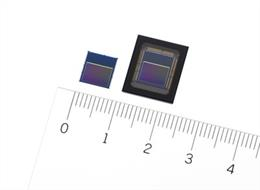Sensores inteligentes IMX500 (izquierda) e IMX501 (derecha) de Sony.
