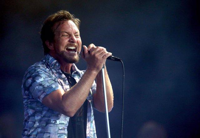 El cantante y guitarrista de Pearl Jam, Eddie Vedder