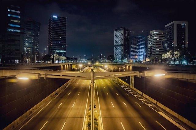Imagen de archivo de una carretera de Barcelona