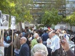 Concentración en la plaza de la Gavidia