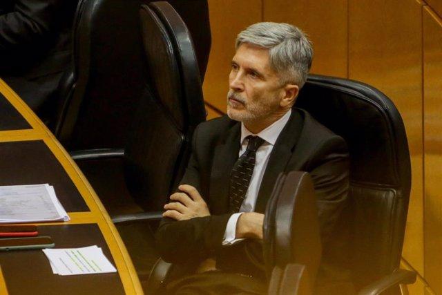 El ministro del Interior, Fernando Grande-Marlaska, en una imagen de archivo en el Senado