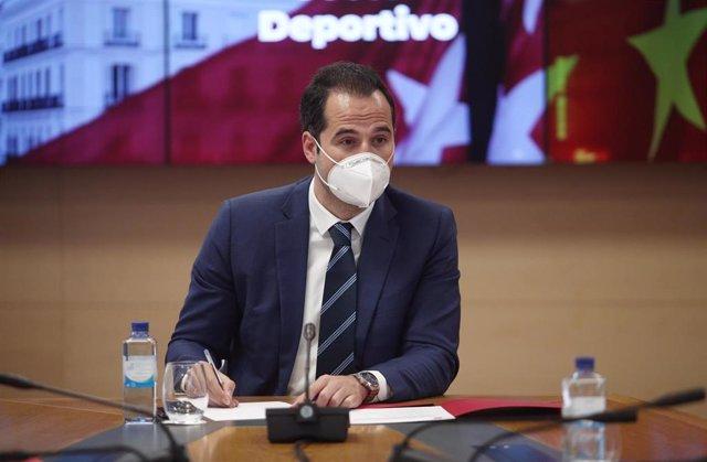 El vicepresidente, consejero de Deporte y Transparencia y Portavoz del Gobierno de la Comunidad de Madrid, Ignacio Aguado