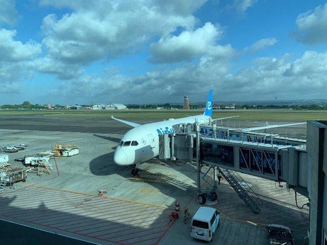 Avión de Air Europa en Bali.