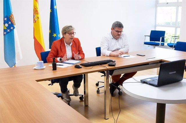 La conselleira do Mar, Rosa Quintana, se reúne de forma telemática con representantes del sector pesquero coruñés