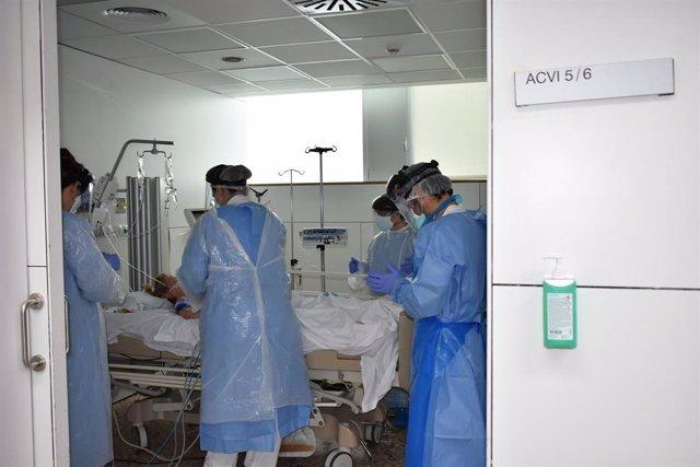 L'Hospital de Santa Caterina de Salt (Girona), en una fotografia d'arxiu durant l'epidèmia del coronavirus