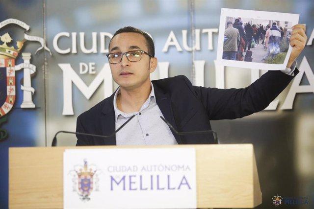 El consejero de Distritos de Melilla, Mohamed Ahmed