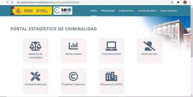 Interior renueva el Portal Estadístico de Criminalidad
