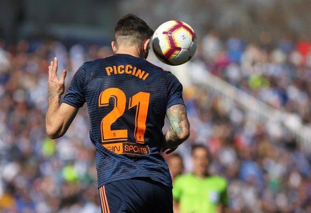 El jugador del Valencia Cristiano Piccini
