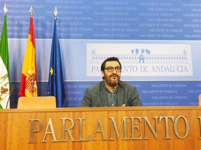 El parlamentario de Adelante Andalucía Guzmán Ahumada, en una imagen de archivo.