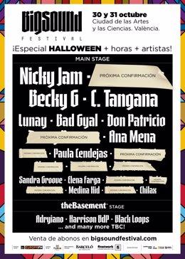 Cartel del festival Big Sound de València 2020