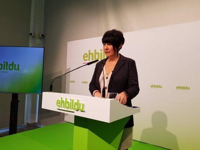 La portavoz parlamentaria de EH Bildu, Idoia Mendia