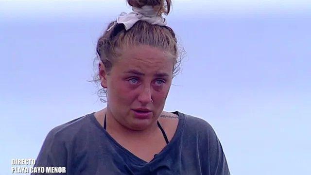 Rocío Flores se rompe en 'El puente de las emociones' de Supervivientes