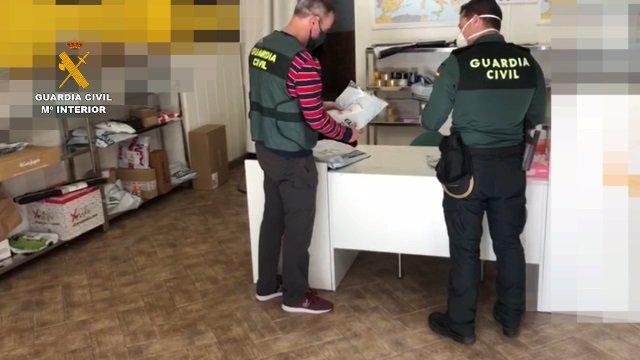 La Guardia Civil detiene a tres personas por la venta fraudulenta de material sanitario