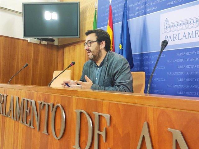 El diputado de Adelante Andalucía y coordinador de Izquierda Unida en Málaga, Guzmán Ahumada.