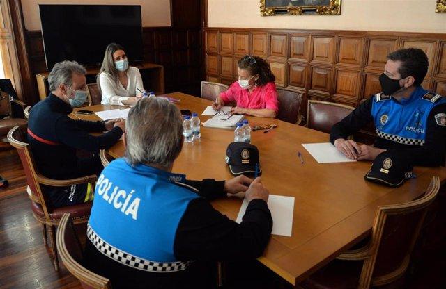 Reunión de la Mesa de Seguridad COVID-19 de Palencia.