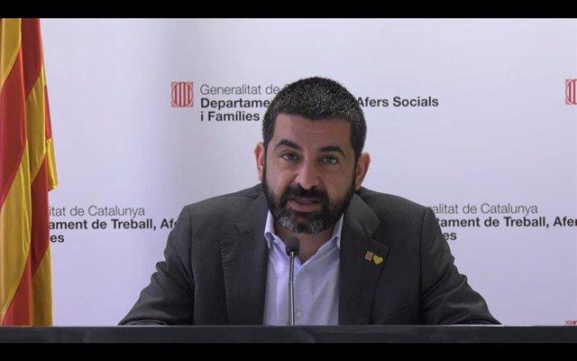 El conseller de Treball, Assumptes Socials i Famílies de la Generalitat, Chakir l'Homrani (arxiu)