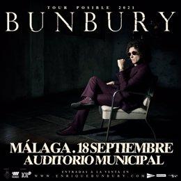 Cartel del concierto de Bunbury