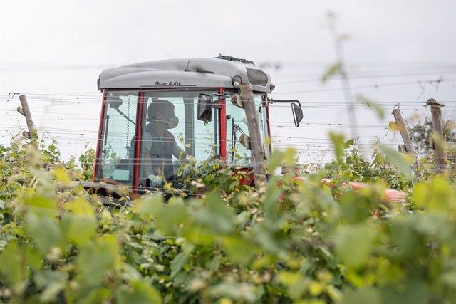 Imagen de un tractor.